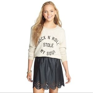 Volcom Inc Black No Running A-line Detailed Skirt